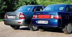 Различия между Lada 110 и Lada 2170 Priora