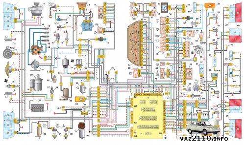 Электросхема ВАЗ 21102