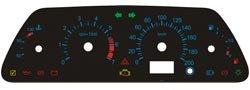Шкалы приборов с синей разметкой для ВАЗ 2110