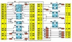 Схема соединений монтажного блока ВАЗ-2110