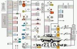 Схема системы зажигания автомобиля LADA 2170 Priora