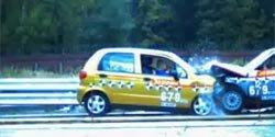 Краш-тест ВАЗ 2110 и Daewoo Matiz
